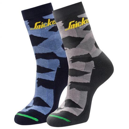 9219 FlexiWork, 2-Pack Camo Socks