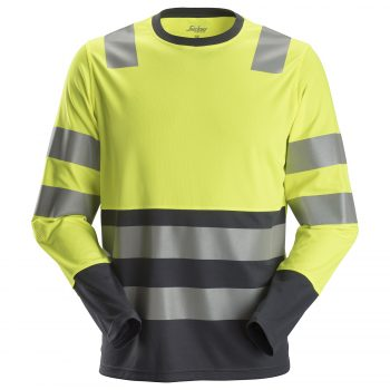 2433 AllroundWork, High-Vis LS T-Shirt, Class 2