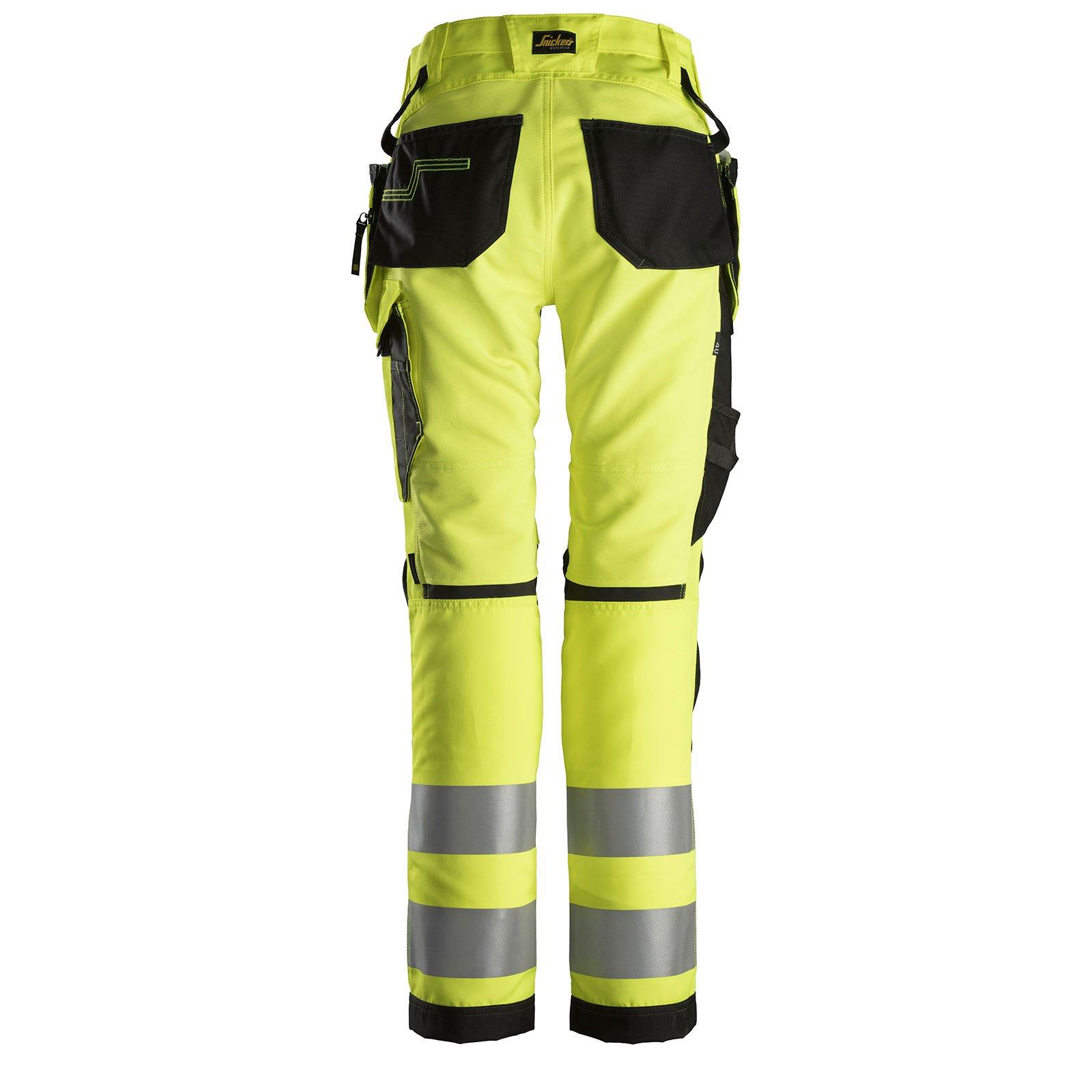 6730 AllroundWork, Women's High-Vis Work Trousers+ Holster Pockets, Class 2